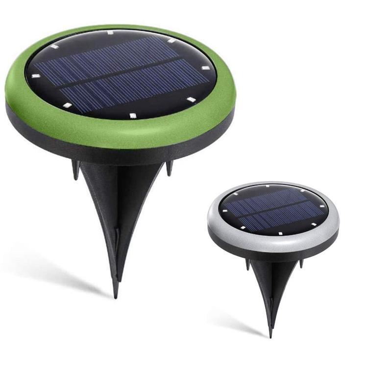 LED Rasen Licht-Garten-Solar-Bunte Untergrundbeleuchtung 8 LED Pathway Außenbeleuchtung für Haus Yard Rasen Straße