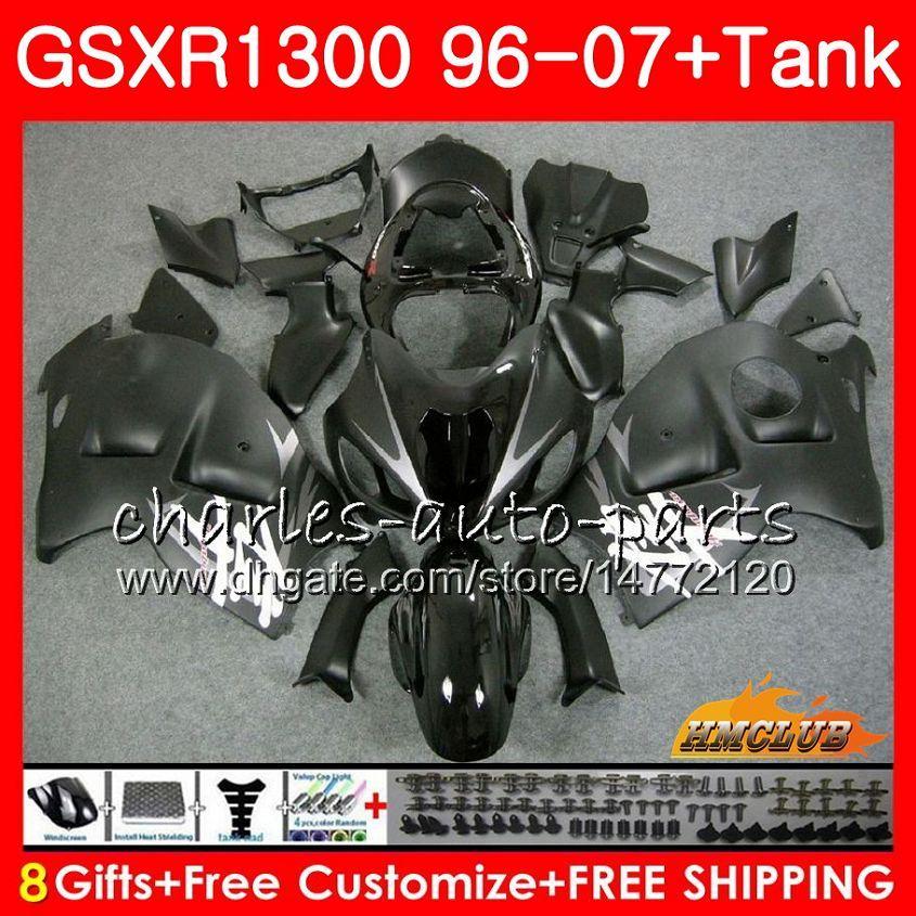 Corpo Para SUZUKI Hayabusa GSXR 1300 GSXR1300 preto fosco 96 02 03 04 05 06 07 24HC.17 GSX R1300 1996 2002 2003 2004 2005 2006 2007 Carenagem
