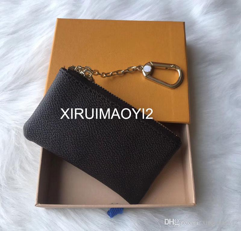 4 color KEY POUCH Damier leather holds high quality fashion classical women key holder coin purse small leather Key Wallets