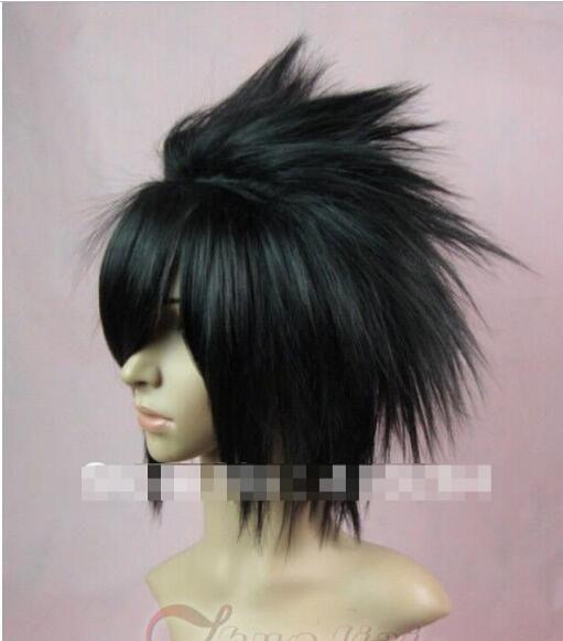 FRETE GRÁTIS + Curto Uchiha Sasuke preto Anime Cosplay peruca perucas