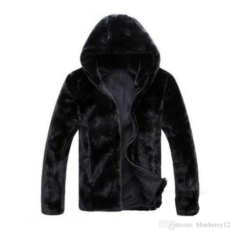 남성 자켓 가을 겨울 가짜 모피 자켓 남성 높은 품질 모조 모피 남성 재킷 코트 새로운 패션 가짜 모피 자켓을 따뜻하게