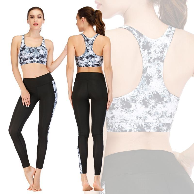 Seksi Spor Suits Dikişsiz Yoga Set Kadın Spor Giyim Spor Kadın Spor Tayt Yastıklı Push-up Strappy Sports Sutyen Xirbe
