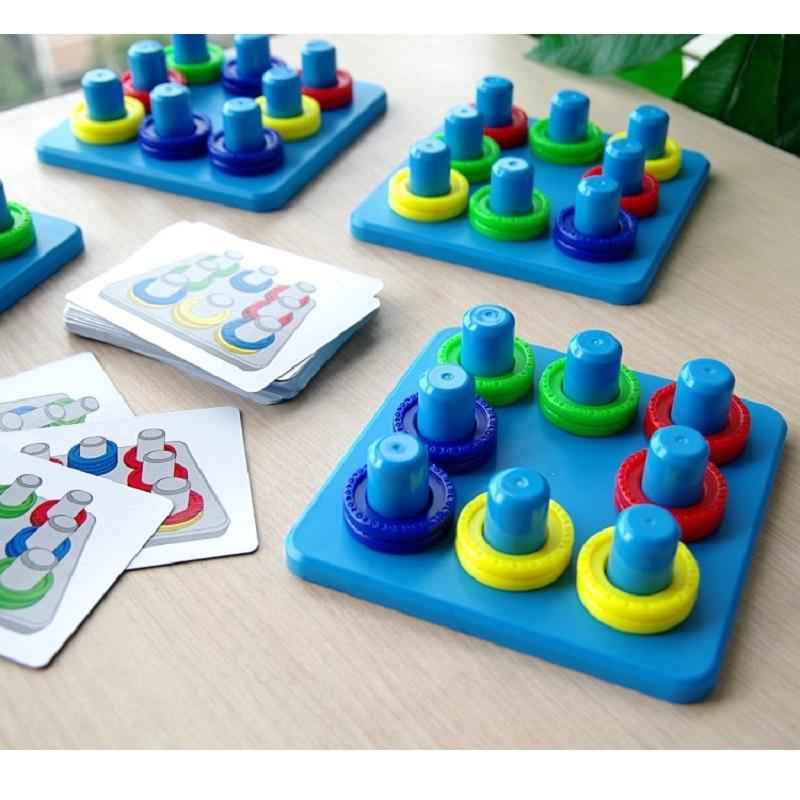 Creative color matching toy parent-child interaction concentration training children early education party board game T200413
