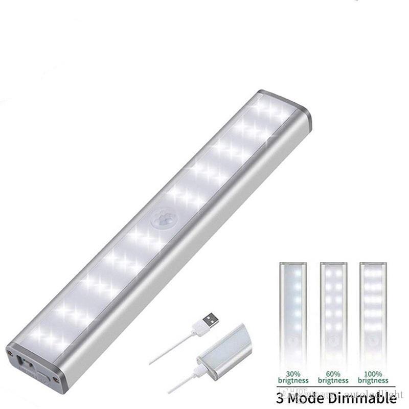 PIR Motion Sensor LED Light USB Wireless LED Kitchen/Wall Lamp 3 Mode Brightness Level 30 LED Closet/Wardrobe/Under Cabinet Light