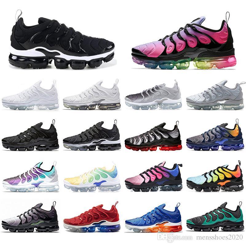 Nike Vapormax plus tn Mit Socken beste QualitätVapormaxTN Plus-Frauen-Mann-Betrieb Sports Schuhe Triple Black Hyper Violet Regenbogen-Männer Turnschuhe Trainer
