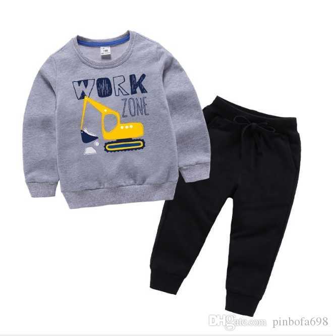 Yeni Bebek Erkek Ve Kız Takım Elbise Marka Eşofman 2 Çocuk Giyim Seti Sıcak Satmak Moda İlkbahar Sonbahar çocuk Elbiseleri Uzun Kollu
