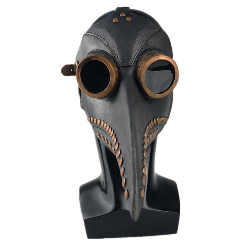 El cuero Doctor de la plaga máscara de ave Pico doctor Santos Cosplay Carnaval Partido látex máscara máscaras de disfraces máscara de Halloween