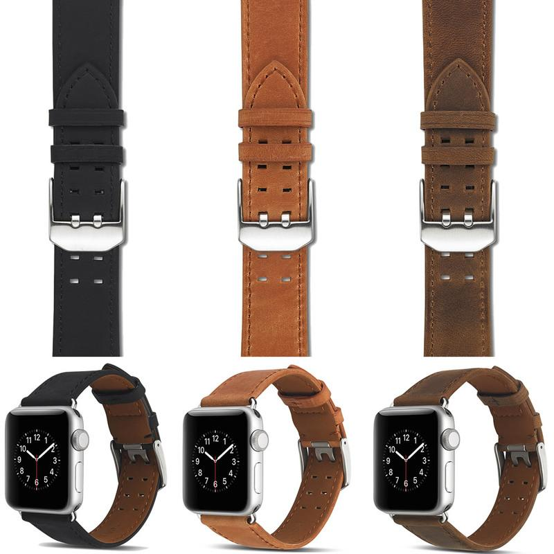 Genuine Leather Watchband for Iwatch Series 4/3/2/1 for Apple Watch Single Tour Band Strap Wristband 40mm 44mm 38mm 42mm