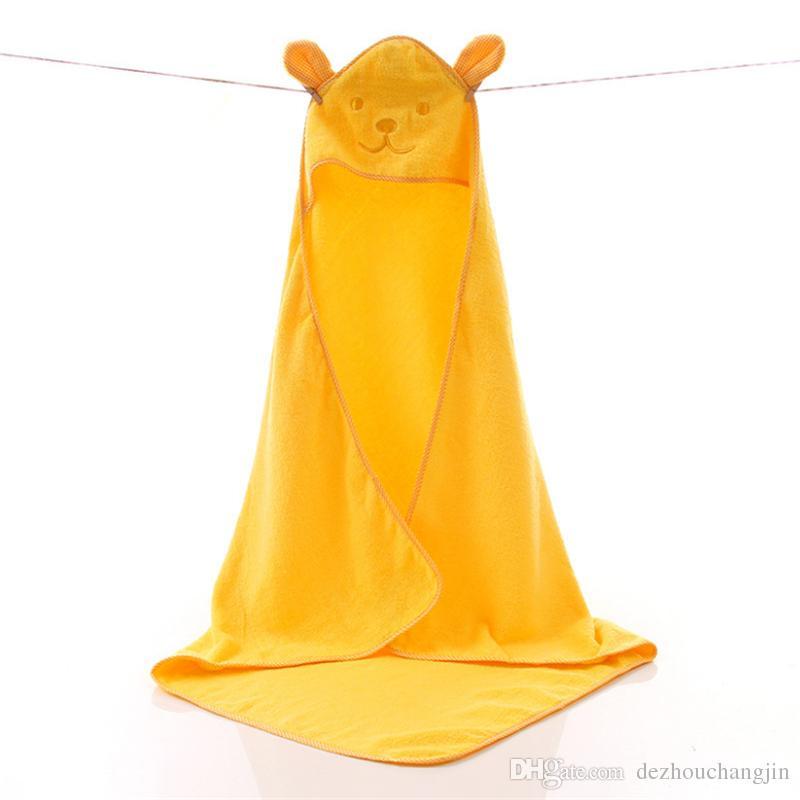 Бесплатная доставка хлопок детского банного полотенца с капюшоном ребенок халатом плащ мультфильма милое толстое полотенце банного