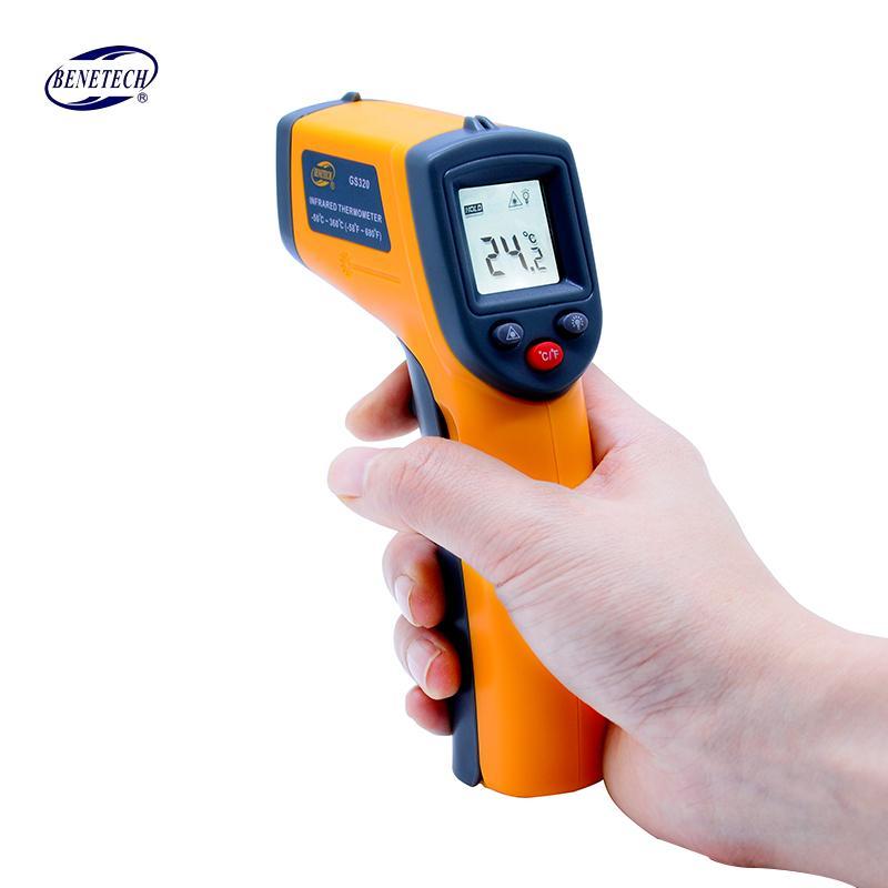 الأشعة تحت الحمراء غير الاتصال الرقمية ليزر مقياس الحرارة GM320 -50 ~ 400C (-58 ~ 752F) Themperature البيرومتر IR نقطة ليزر بندقية