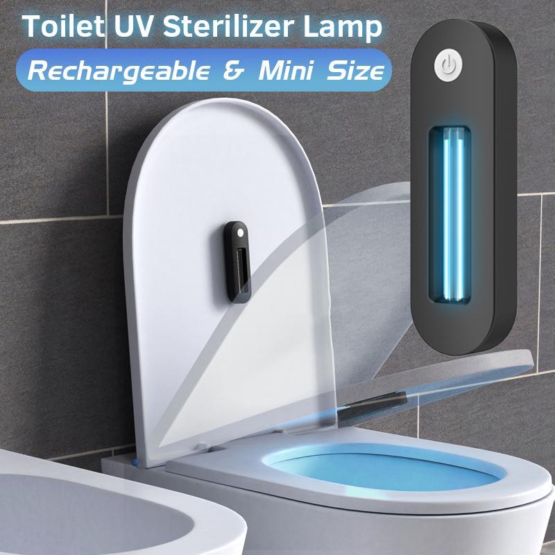 Para o banheiro recarregável ultravioleta uv esterilizador lâmpada UVC + Ozone desinfecção luz vaso sanitário desinfecção ultravioleta ultra-violeta c luz