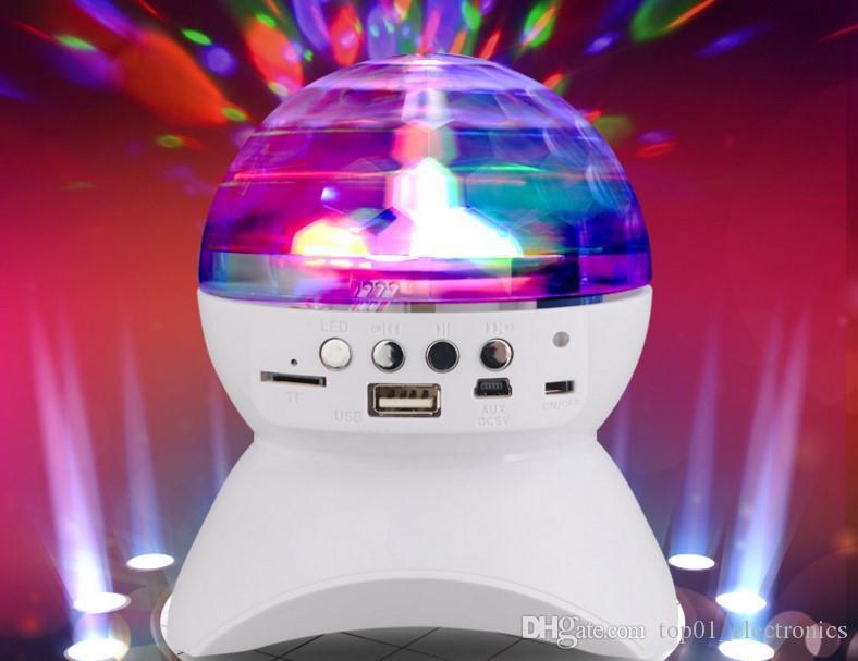 Kablosuz Bluetooth Hoparlör Dahili Işık Gösterisi Ile Parti / Disko DJ Sahne Stüdyo Etkileri Aydınlatma RGB Renk Değiştirme LED Kristal Top