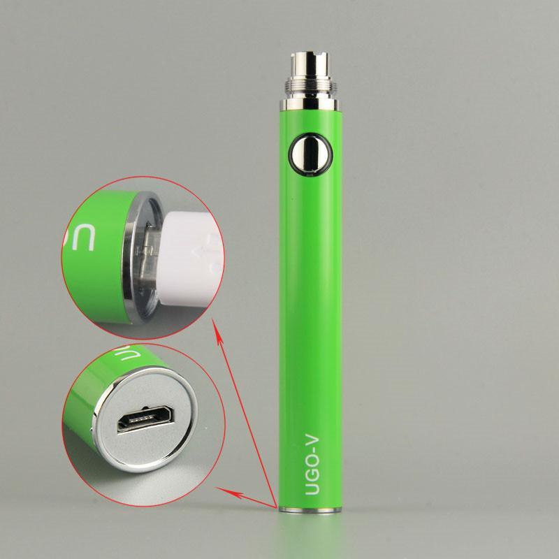 MOQ 5PCS 100% Authentic Ugo V Baterias EGO T 650 900mah Vaporizador Pen Fit 510 Cartuchos Vape do Tópico EVODO MT3 CE4 CE5 Ecigs Atomizer