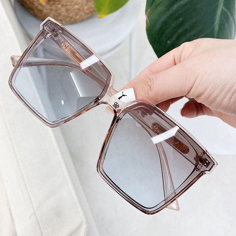 übergroße quadratische Sonnenbrille für Frauen und Männer klar Tee schwarz Gradienten Sonnenbrille weiblichen sexy große Brillen uv400 oculos feminino T200615