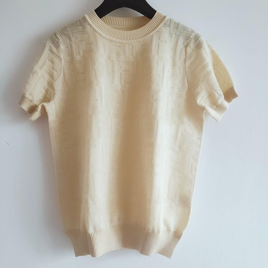 Luxuryshirt Kadınlar Moda Top Tees Yaz Sonbahar Bayanlar DesignerShirts Örme FF T-shirt Casual Tops Kadınlar Sıcak Gömlek Boyut S-L 2020788K