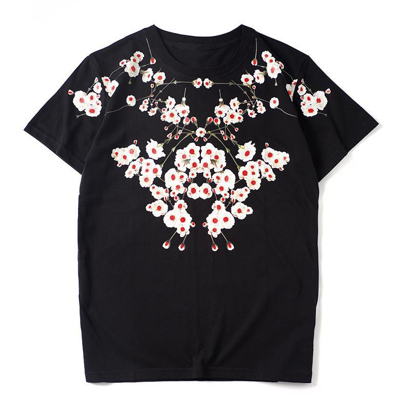 19SS Hommes T-shirt couple manches courtes en coton Fahion Tendance Mens T-shirts noir Taille S-2XL