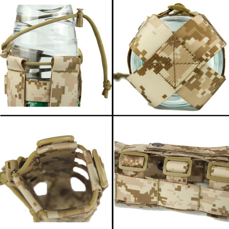 Viaggi Bottiglia 0.5L-2.5L tattico Molle Acqua Pouch Oxford militare Mensa armi della copertura caldaia esterna Borsa con sistema Molle