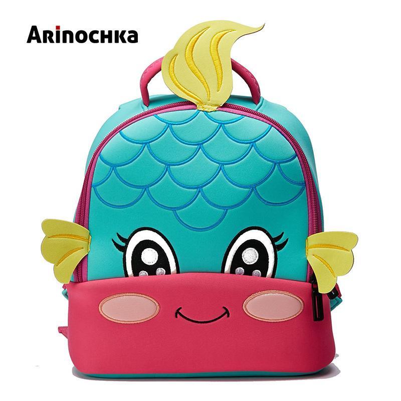 Lovely Little Kids Mermaid School Bag Zoo Animal Backpack Cartoon Unicorn Toddler Small Baby Bag Beautiful Butterfly For Girls J190427
