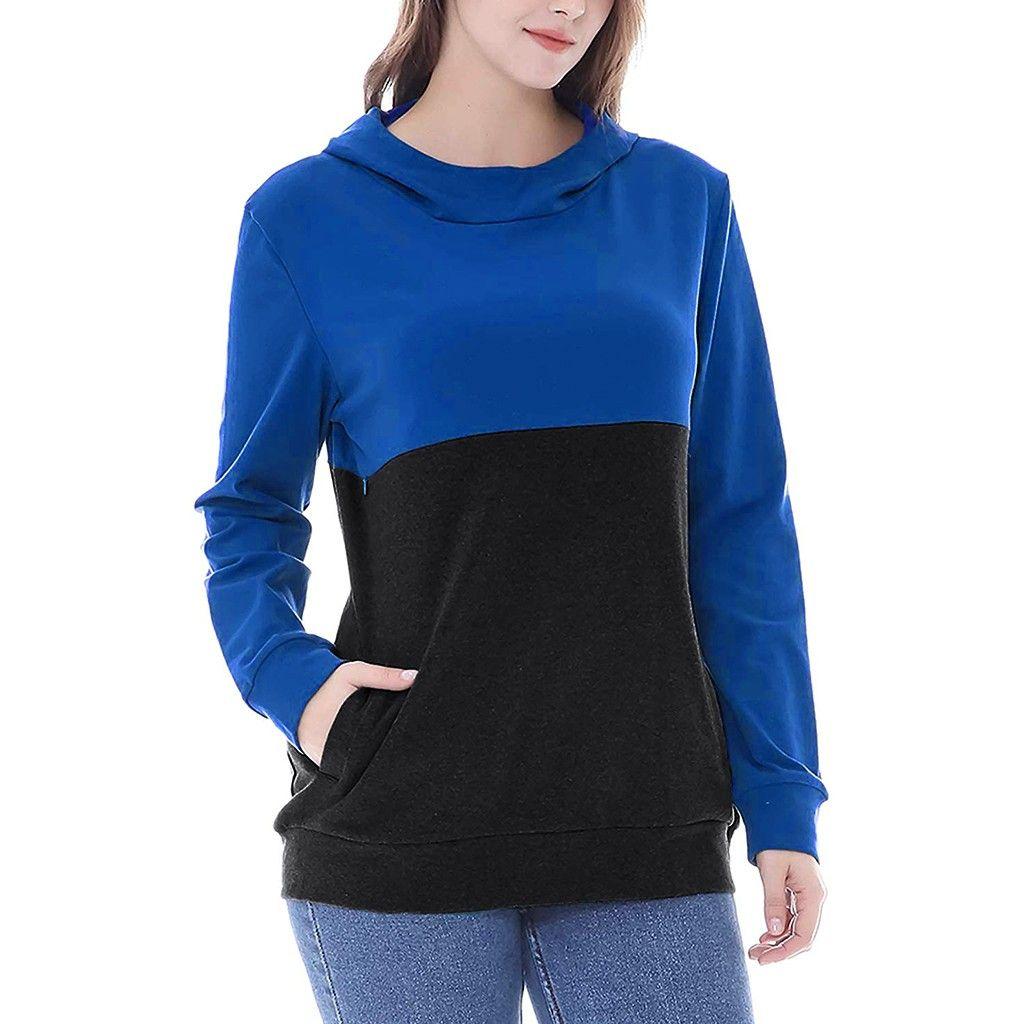 Winter, Herbst, Hoodies für schwangere Frauen Fashion Color Patchwork Umstandsmode Langarm Nursing Top Stillen Hoodie