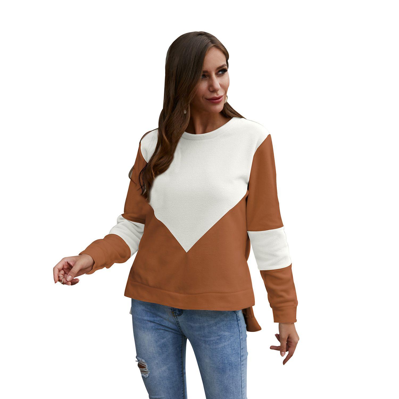 Winter 2019 Hit Nähte Rundhals Langarm-T-Shirt Großhandel Explosion Modelle in Europa und Amerika