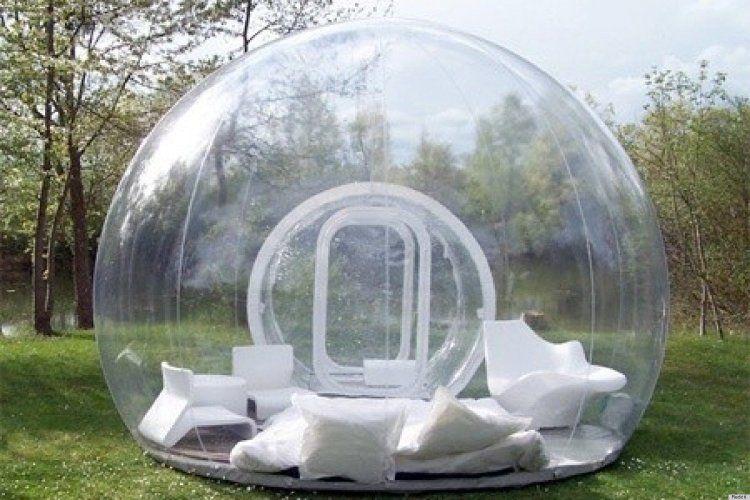 لعبة خيمة في الهواء الطلق المحمولة نفخ فقاعة خيمة شاطئ التخييم الطي منزل فقاعة لمدة 2-3 شخص