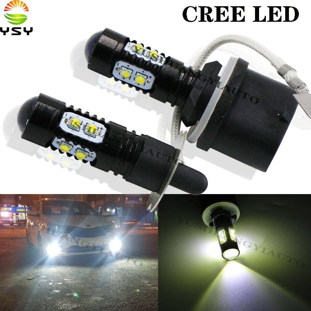 YSY 4 adet araba 881 led H3 led canbus süper drl Beyaz 6 Kuyruk Far Sis Işık Gündüz Çalışan Işık oto Motosiklet Lambası