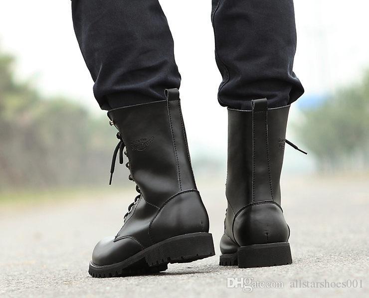X50 yeni kadın deri Çizme Adam Bahar Yüksek Top Büyük Beden 39-46 Moda Günlük Ayakkabılar Nefes Işık Man Dantel-up Boot vahşi kişilik sh