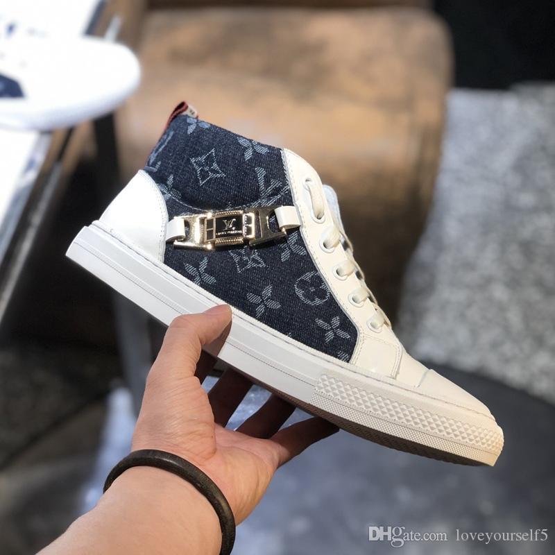 AR2135 Hava Louis14 Kutusu ücretsiz kargo ile Dana derisi Deri Sneaker Casual ayakkabılar moda Patik basketbol ayakkabıları ile Luxuries ayakkabı mens
