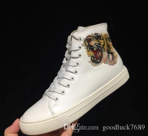 calidad 22high Luxuryss RUN cuero auténtico LEJOS Designered a zapatillas de deporte de los zapatos ocasionales de los hombres Zapatos de mujer botas cortas entrenadores color mezclado