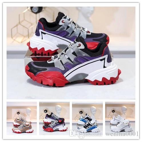 con malla de cuero ocasionales calientes nuevas señoras del diseñador de zapatos RUN hombres zapatos casuales 35-45 1y11