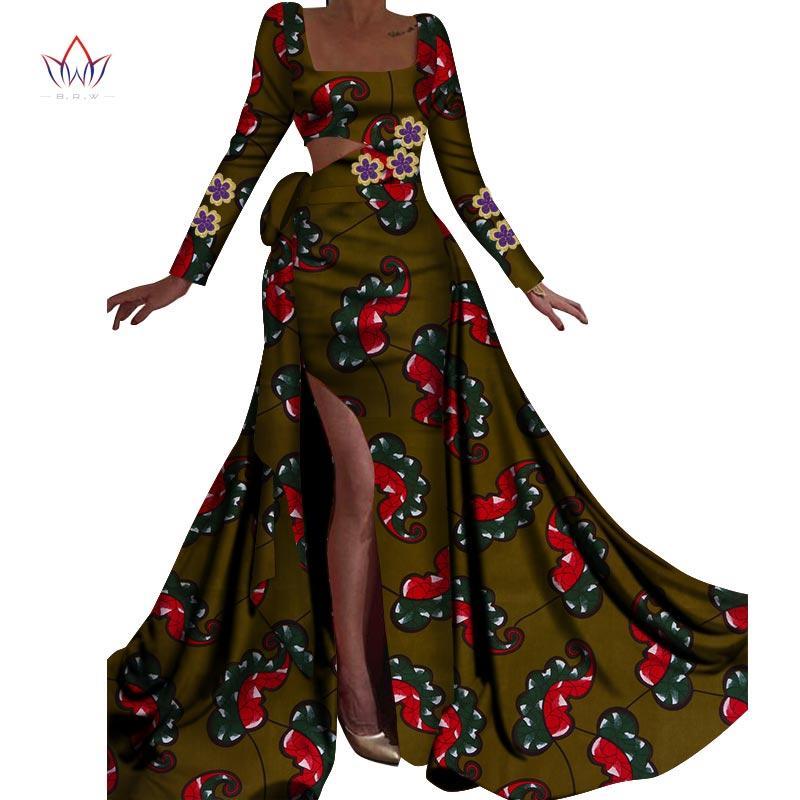 2019 primavera vestidos afriac nova moda para as mulheres Dashiki Lace Patchwork partido roupa Africano tradicional vestido WY4474