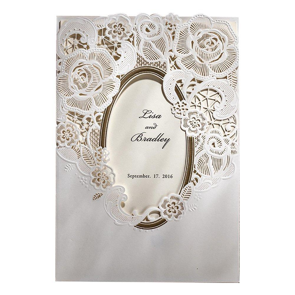 Elegant Laser Cut Gold Stamping Wedding Invitation Card, Bridal Shower  Invitation With Blank Inner Sheet And Envelopes T200115 Animated Christmas  Cards Animated Greeting Card From Xue009, $21.88| DHgate.Com