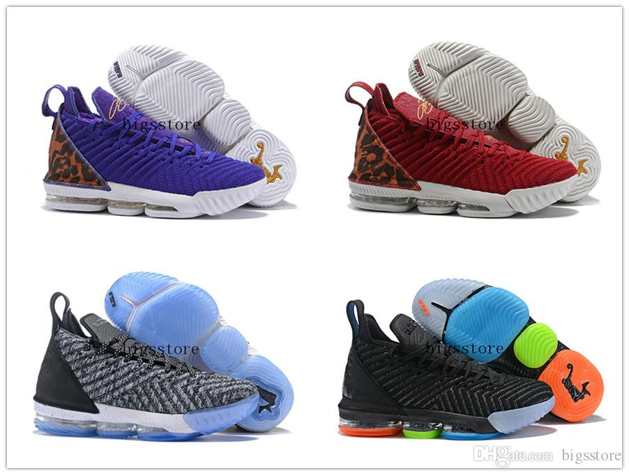 huge selection of 02468 cca23 2019 New Arrival LeBron 16 XVI King Court Purple I Promise Oreo 1 Thru 5  Mens Sneakers 16s Size 7 12 From Bigsstore, &Price;   DHgate.Com