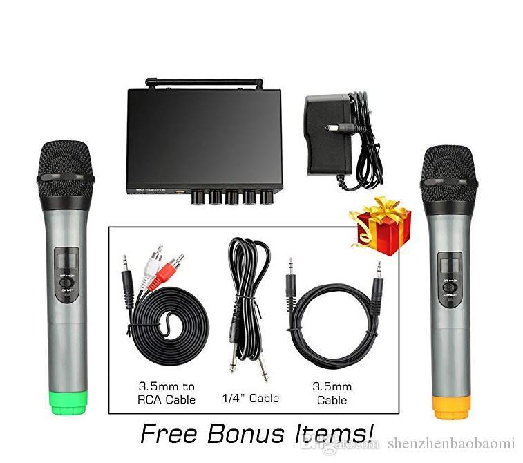 S-10 Microfone UHF Sem Fio com Eco Microfone Bluetooth para sistema de cinema em casa alto-falante do computador Microfone de Telefone Inteligente