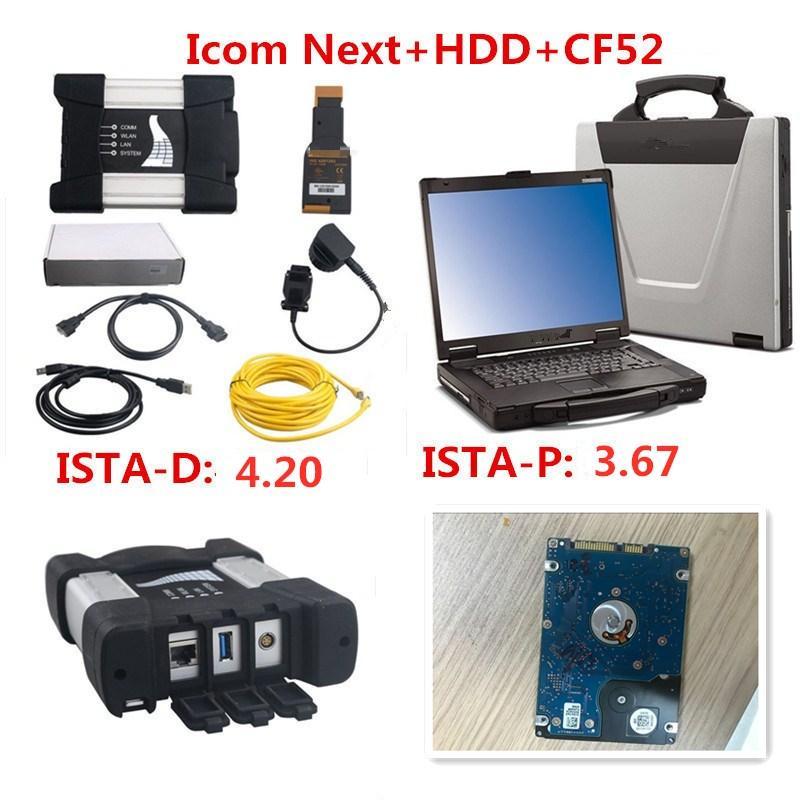 2020 Promotion pour BMW ICOM SUIVANT A + B + C nouvelle génération de l'ICOM A2 avec 2020,01 Logiciel et 500Go CF52 ordinateur portable de haute qualité