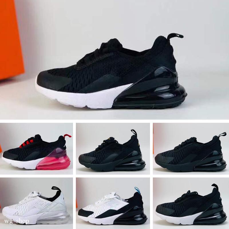 Nike Air Max 270 27c EUR размер 29-44 новый бренд Детская обувь модные дизайнеры обувь для мальчиков и девочек спортивная парусиновая обувь и спортивные унисекс кроссовки