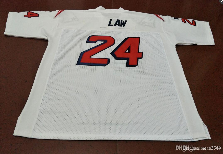 Nadir Erkekler Custom # 24 Ty Kanunu 1995 Beyaz Renk Erkekler Koleji Jersey Boyut veya özel herhangi bir ad veya numara formayı-4XL S