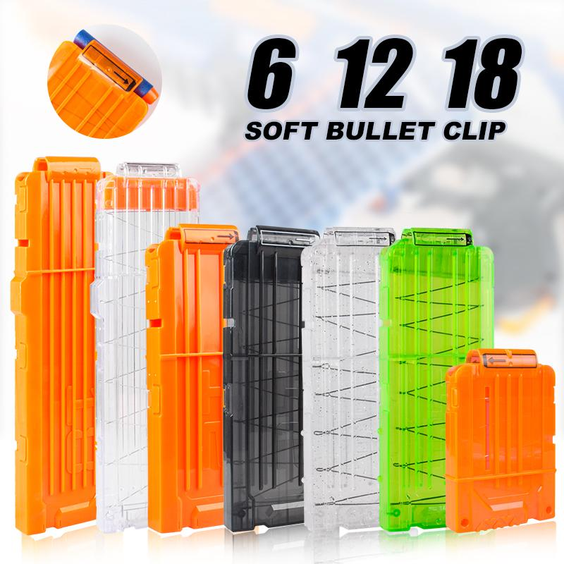 12/06/18 Naranja Recargar clip para Nerf Revista Ronda dardos reemplazo pistola de juguete suave bullet clip de Nerf Blaster De Arma del Juguete