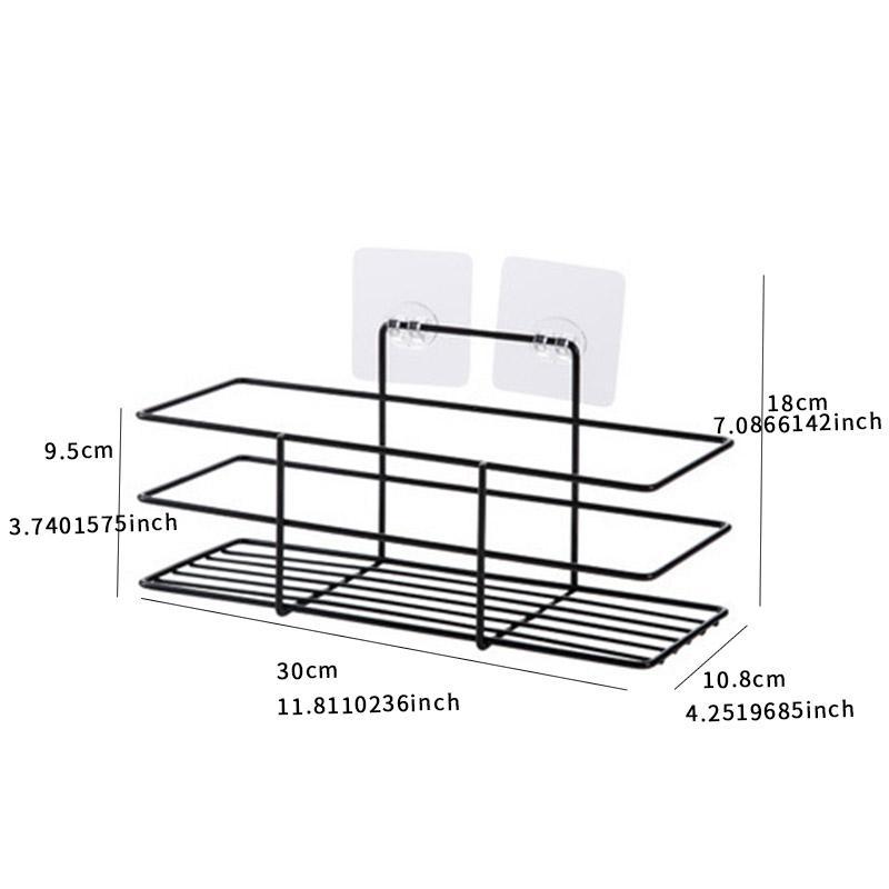 Bathroom Storage Racks Kitchen Paste Type Storage Shelf Condiment Toiletries Organizer For Home Kitchen