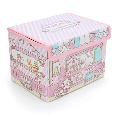 Parece com caixa de armazenamento Um dos desenhos animados Car Melody gêmeo Stars dobrar roupas Meias Bra Makeup Organizer