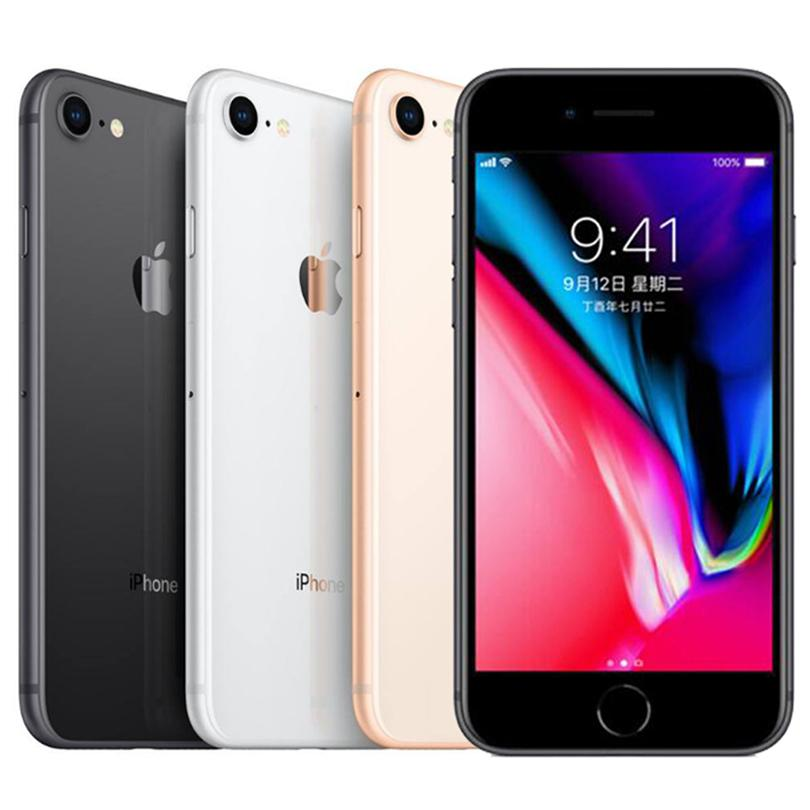 Original Refurbished Apple iPhone 8 4.7 inch iOS A11 Hexa Core 2GB RAM 64GB 256GB ROM 12MP Unlocked 4G LTE Smart Phone DHL 5pcs