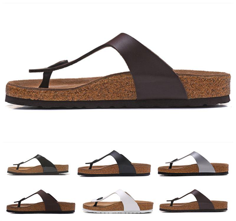 Mayarí Arizona Gizeh flip flop diseñador del verano mujeres de los hombres pisos deslizadores de las sandalias de corcho imprimir mixtos de playa sandalias de diapositivas de piel 34-46