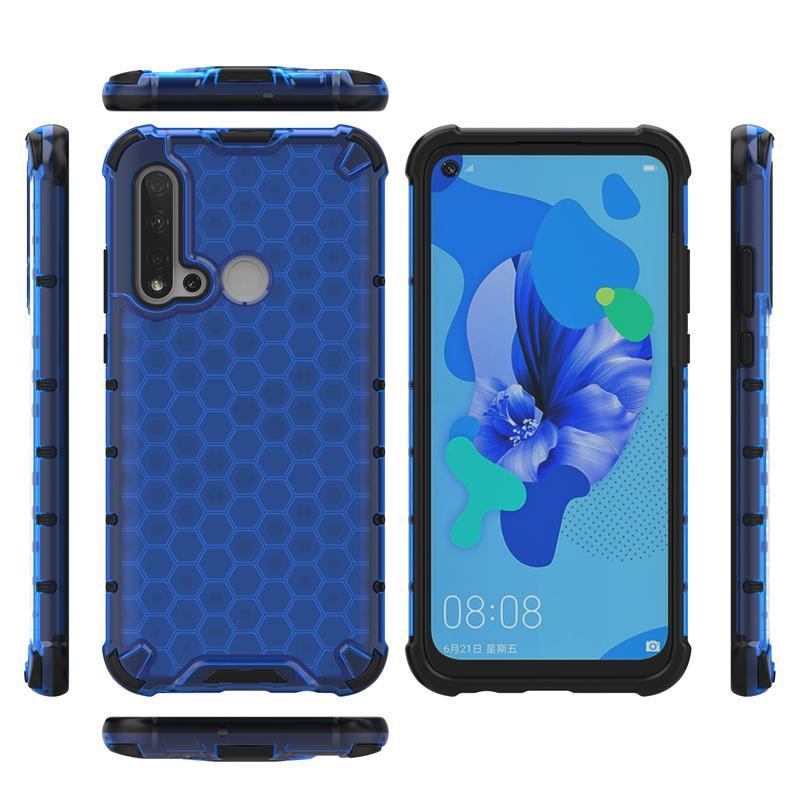 Ultra Slim Carbon Fiber Texture Matte Case for Huawei Nova 5i Soft Anti-knock Anti-fingerprint Cover Bumper Case