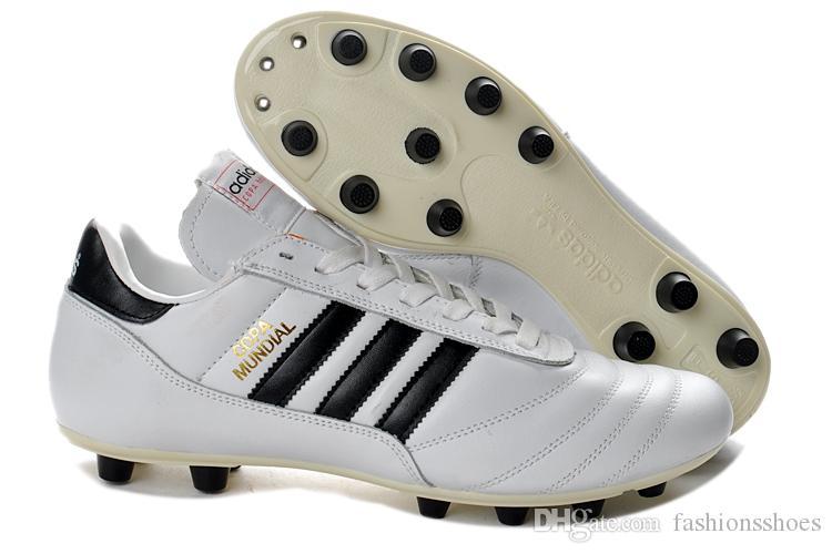 Acheter 2019 Top Qualité Nouvelle Arrivée Mens Chaussures De Football Copa Mundial FG Football Crampons Coupe Du Monde De Football Chaussures Tacos De