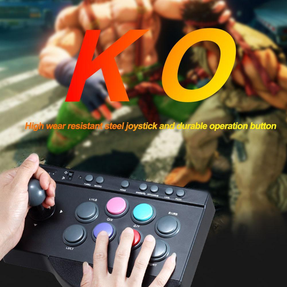 Gaming Zubehör Knopf für Arcade-Kampf PC Praktische USB Wired Joystick-Stick Game Controller Durable für PS3 / 4 für XBOX ONE
