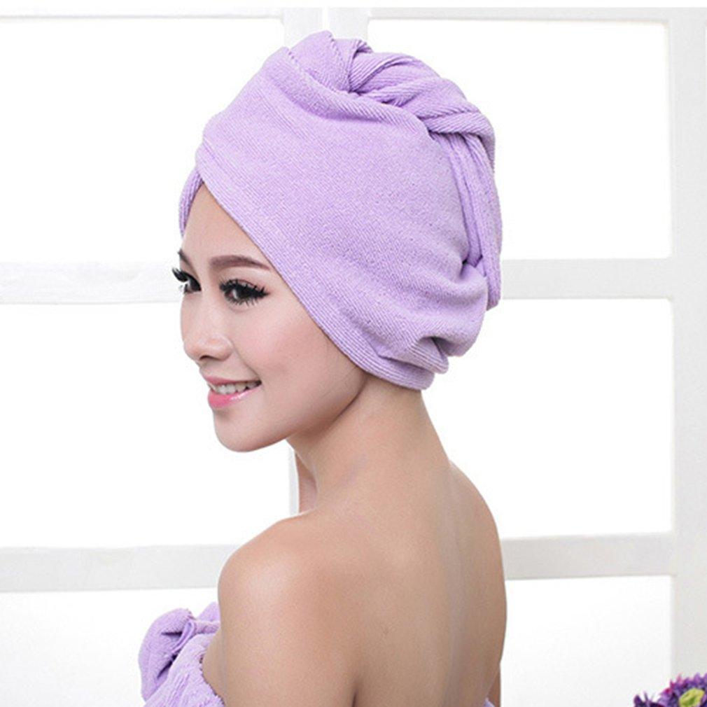 Magic Hair Drying Towel Superfine Fiber Bath Hair Dry Hat Shower Cap Soft Strong Water Absorbing Quick Dry Head Towel Cap Hat