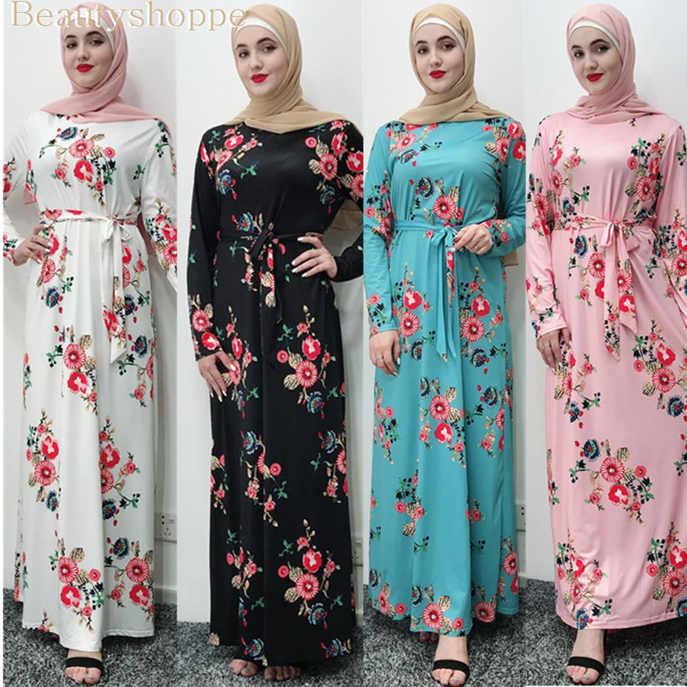 Vestido del vendaje de las mujeres musulmanas Hijab Abaya Turquía marroquí Negro Blanco Rosa Azul Dubai Bangladesh Kaftan ropa islámica turca