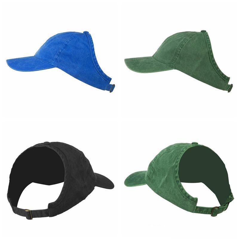 2019 المرأة ذيل حصان قبعة بيسبول نصف فارغة أعلى قناع فوضوي بون snapback قبعة قبعات الشعر الطبيعي أبي قبعة الأفرو مجعد الشعر الذراعين قبعة