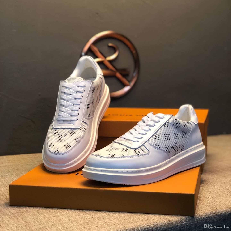 2019 New arrivel chaussures dentelle imprimé tulle blanc marche de jogging extérieur matrilinéaire casual panier luxe chaussures de tennis # 2f