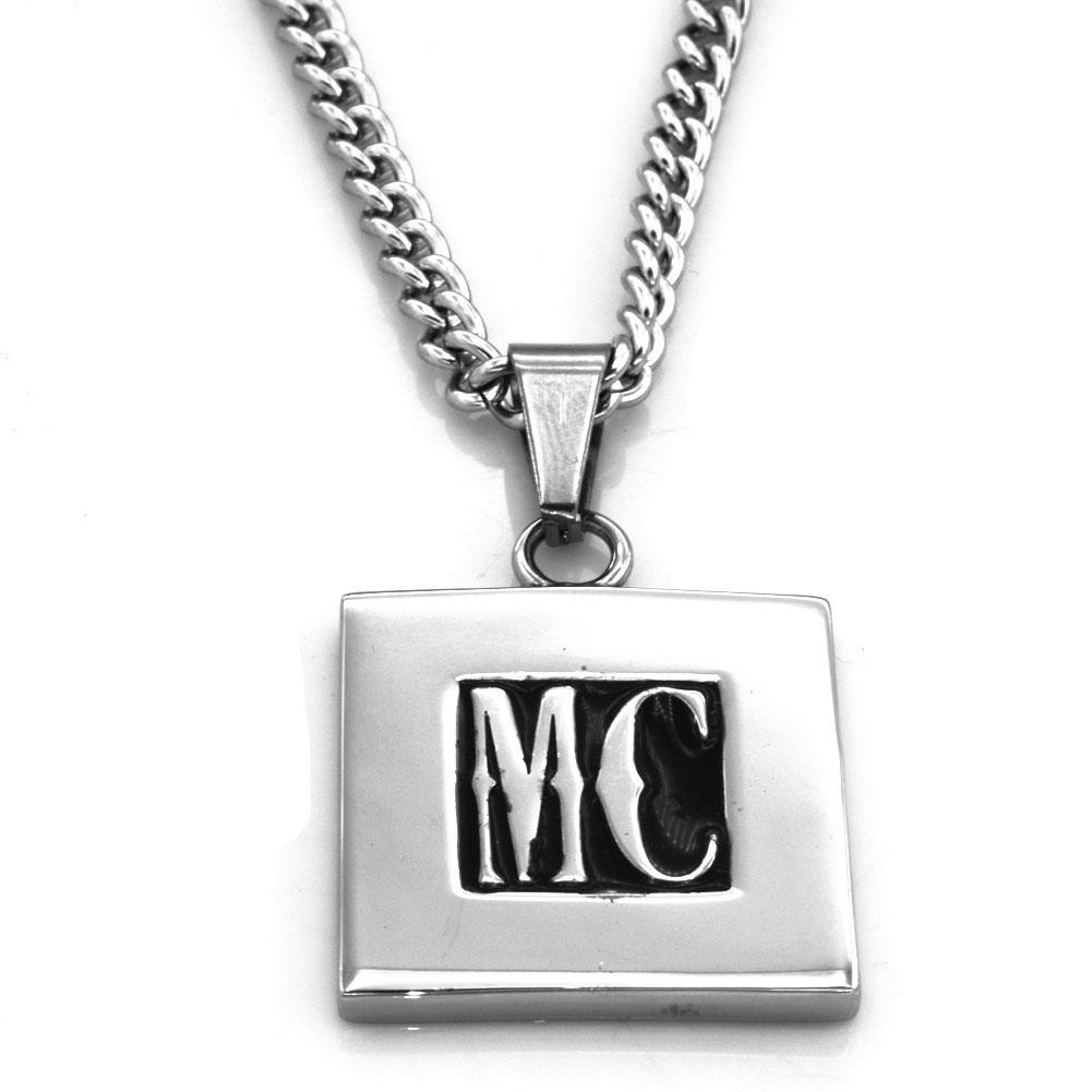 FansSteel مخصصة S.Stel مجوهرات نادي 2 الأحرف الأولى خطابات كتلة monogram name قلادة سلسلة قلادة هدية تقارير